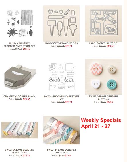 Weekly Specials April 21 - 27